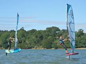 Windsurf foiling fun on the River Orwell