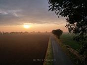 Sunrise over Ludhams countryside…