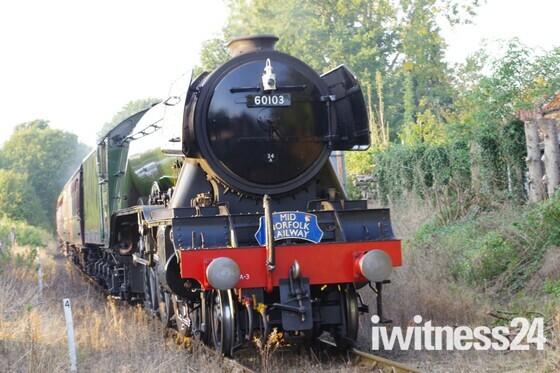 Flying Scotsman on the Mid Norfolk Railway
