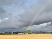 Rainbow between showers