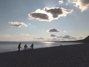 Budleigh Beach when the sun goes down