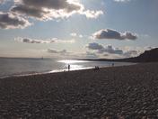 Budleigh Salterton Beach at Sund Down