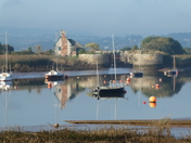 Looking across the river in Topsham on Sunday morning