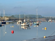 Reflections on the Exe at Topsham one October morning