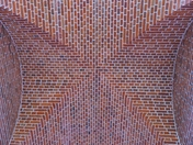 PROJ 52. LOOKING UP.   BRICK CEILING AT HOUGHTON HALL