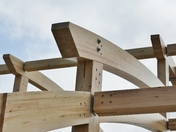 PROJ 52. LOOKING UP.   AT THE NEW LIFEBOAT HOUSE BUILDING AT WELLS