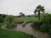 Allhallows Field, Honiton on a wet day