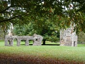 Autumn Colours in The Abbey Gardens, Bury St Edmunds, Suffolk.